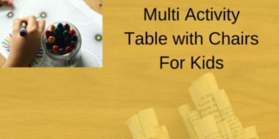 UTEX 2 in 1 Multi Activity Table with 2 chairs