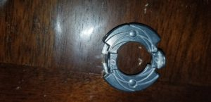 The Forge Disk is the metal part of the Beyblade. It sits just below the energy layer.